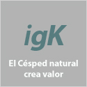 El césped natural crea valor
